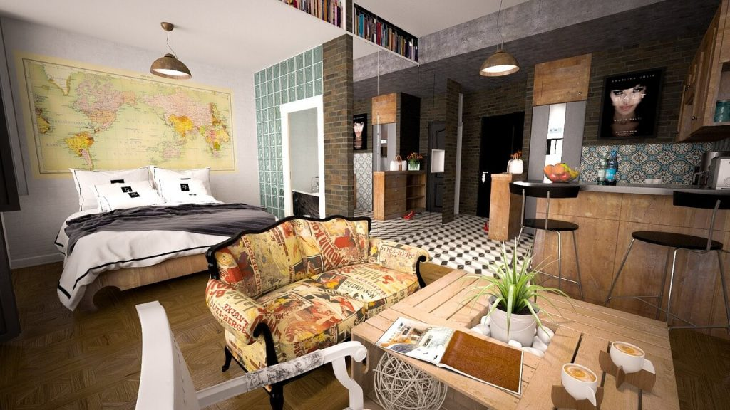 urzadzenie malego mieszkania 1024x576 Sprytne sposoby na wykorzystanie mebli do małych mieszkań i mikroapartamentów