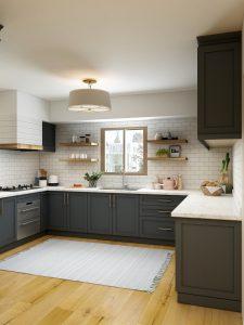 szara kuchnia nowoczesna matowa 225x300 Szara kuchnia w nowoczesnym stylu – 4 pomysły na szarą kuchnię na wymiar